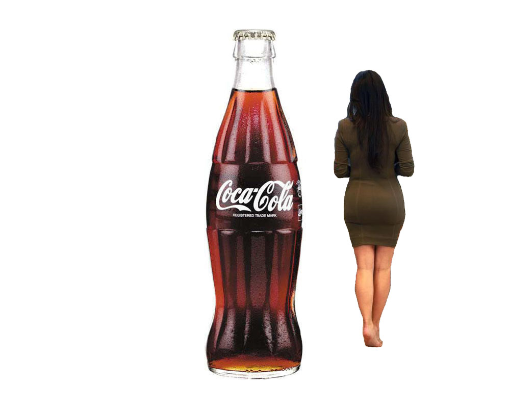 Women naked coke shaped bottle