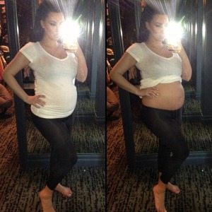 Kim-Kardashian-bare-belly-baby-bump